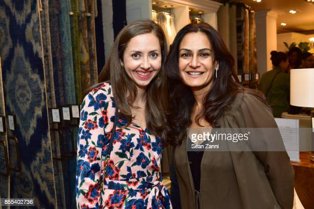 Lauren Tarzia and Monica Bhargava attend the Grand Opening Celebration of Williams Sonoma Home NYC with Guest CoHost Heather Clawson of Habitually...