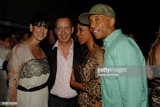 Lauren Taschen Barbara Becker and Russell Simmons attend Rush Philanthropic Dinner hosted by Russell Simmons and Kehinde Wiley at The Delano on...