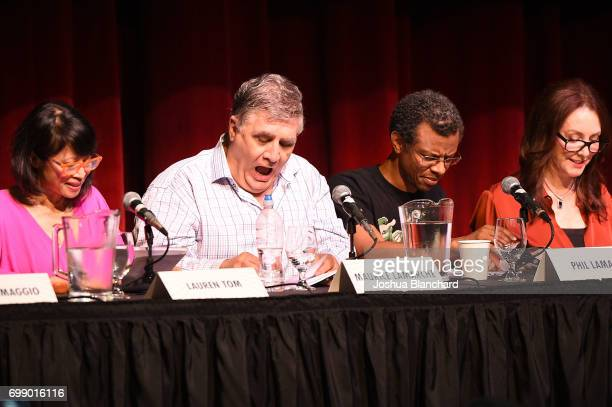Lauren Tom Maurice LaMarche Phill Lamarr and Tress Macneille attend Futurama Worlds of Tomorrow Event in Hollywood at Avalon on June 20 2017 in...