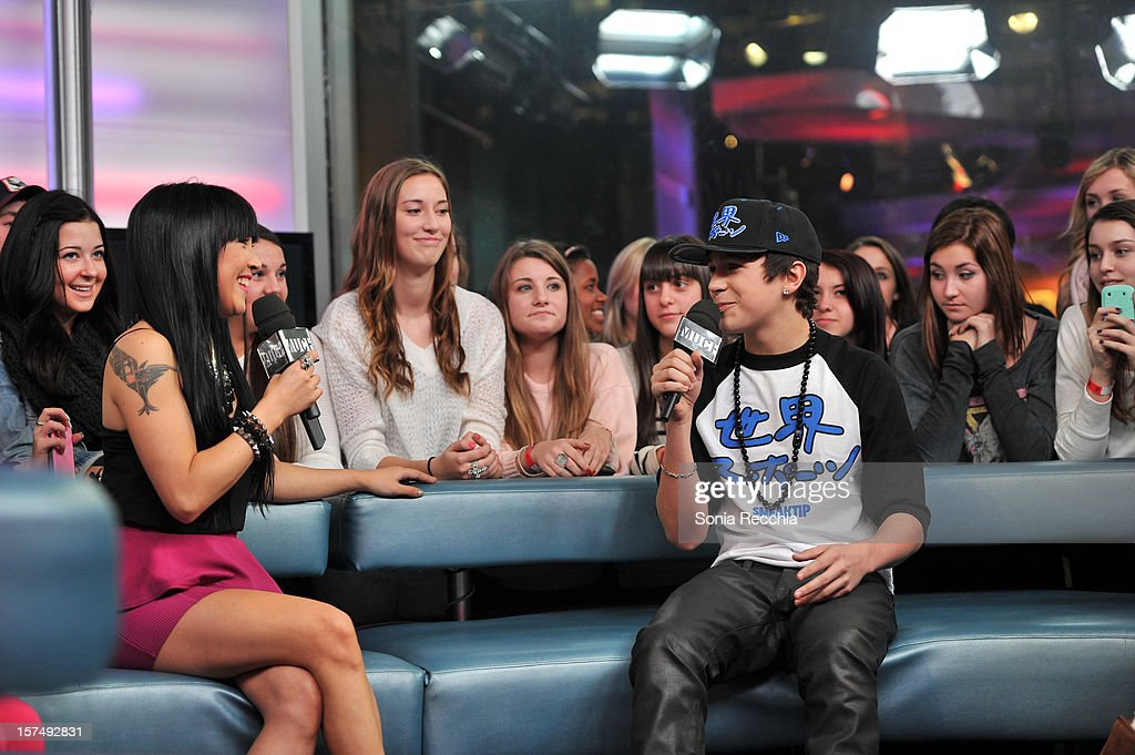 Lauren Toyota and Austin Mahone at Austin Mahone On New.Music.Live at MuchMusic Headquarters on December 3, 2012 in Toronto, Canada.