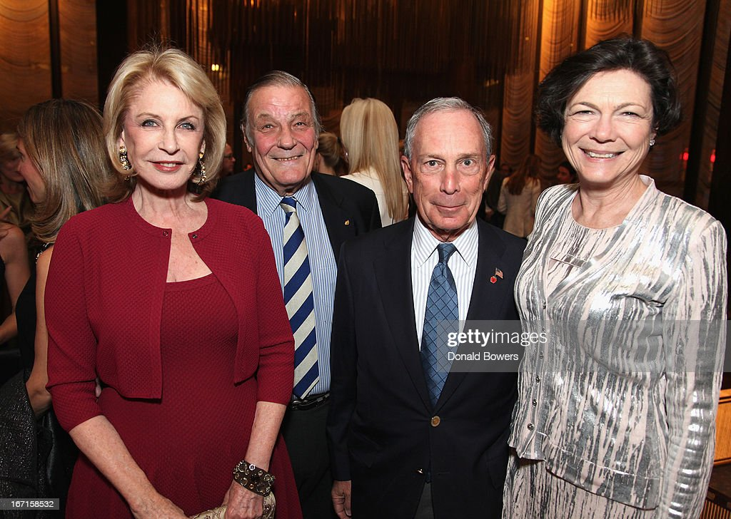 Lauren Veronis, Joe Califano, <a gi-track='captionPersonalityLinkClicked' href=/galleries/search?phrase=Michael+Bloomberg&family=editorial&specificpeople=171685 ng-click='$event.stopPropagation()'>Michael Bloomberg</a> and Diana Taylor attend The Through The Kitchen Party Benefit For Cancer Research Institute on April 21, 2013 in New York City.