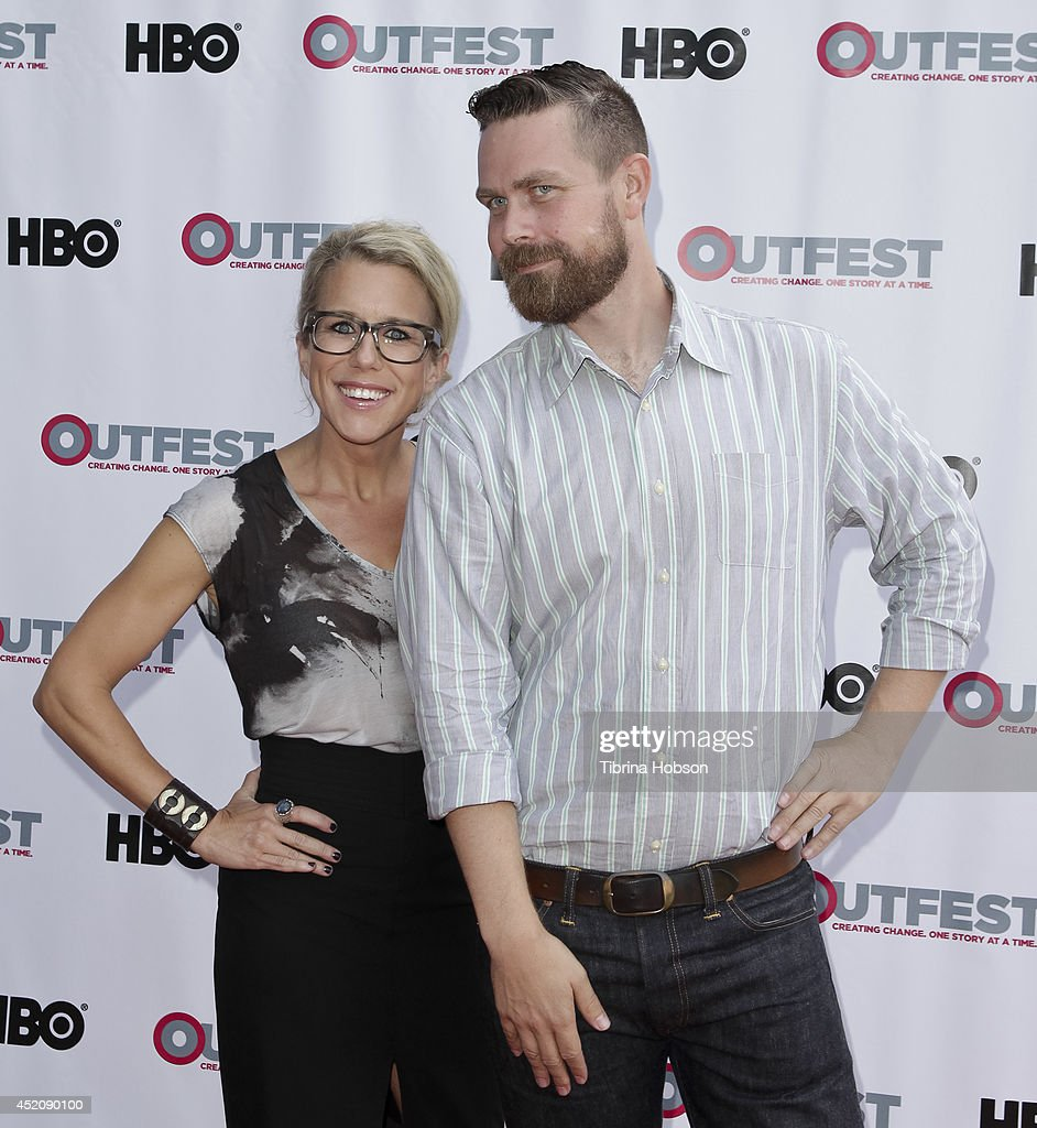 Lauren Weedman and Michael Lannan attend the 2014 Outfest Los Angeles panel discussion for 'Inside Looking' at DGA Theater on July 12, 2014 in Los Angeles, California.