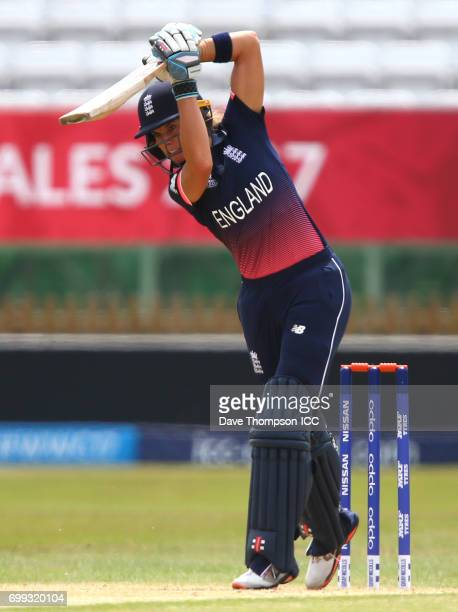 Lauren Winfield of England during the ICC Women's World Cup warm up match between England and New Zealand at The County Ground on June 21 2017 in...