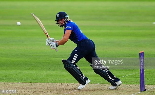 Lauren Winfield of England flicks the ball during the 3rd Royal Royal London ODI between England Women and Pakistan Women at The Cooper Associates...