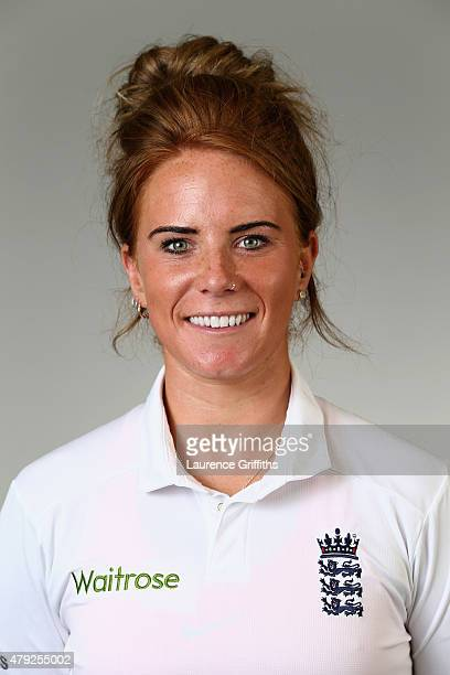 Lauren Winfield of England poses for a portrait at the National Cricket Performance Centre on July 1 2015 in Loughborough England