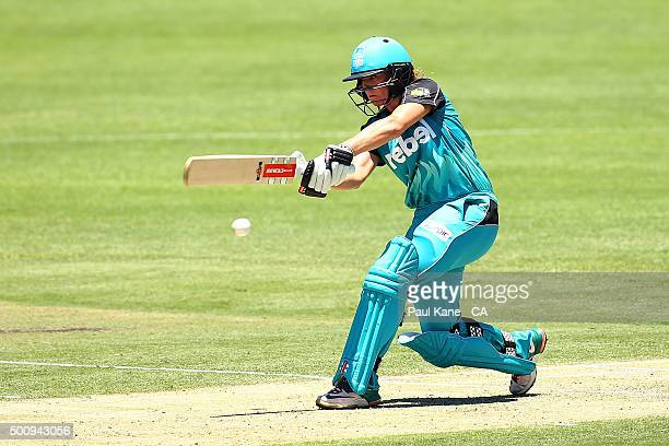 Lauren Winfield of the Heat bats during the Women's Big Bash League match between the Perth Scorchers and the Brisbane Heat at Aquinas College on...