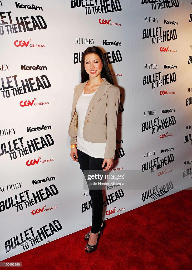 Lauren Zhou Weinberger attends 'Bullet To The Head' screening at CGV Cinemas on January 31, 2013 in Los Angeles, California.