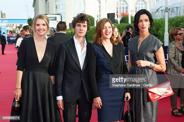 Laurence Arne Vincent Lacoste Valerie Donzelli and Geraldine Maillet attend the Opening Ceremony of the 39th Deauville American Film Festival in...