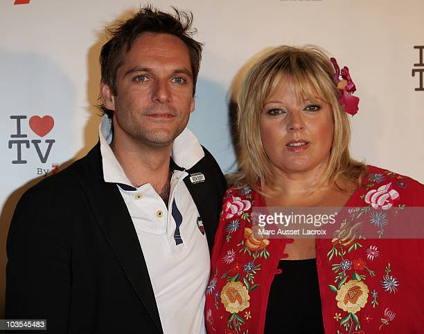 Laurence Boccolini and Guest attends the 1st edition of 'La Fete de la Tele' at Le Showcase on June 15 2010 in Paris France
