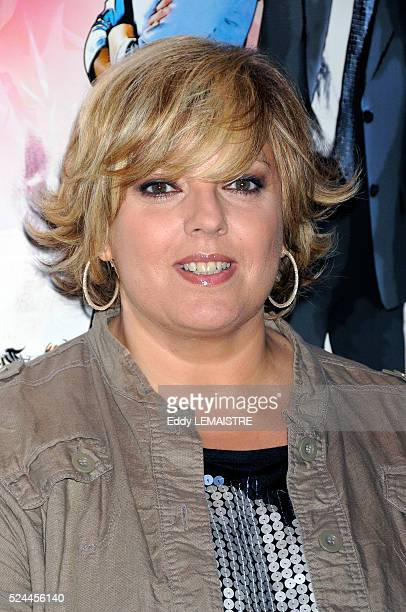 Laurence Boccolini attends the premiere of 'Tu peux garder un secret' in Paris