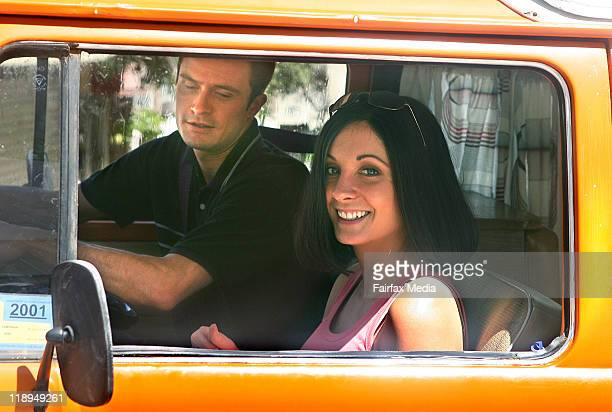 Laurence Breuls and Joanna Froggatt on the set of the telemovie 'To Catch A Killer about Peter Falconio and Joanne Lees on October 12 2006 in Darwin...