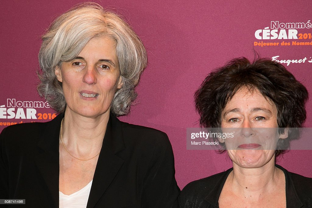 Laurence Briaud and Irina Lubtchansky attend the 'Cesar 2016- Nominee luncheon' at Le Fouquet's on February 6, 2016 in Paris, France.