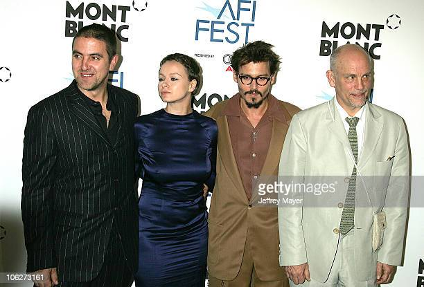 Laurence Dunmore director Samantha Morton Johnny Depp and John Malkovich