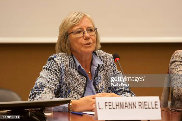 Laurence Felhmann Rielle Swiss Federal Councillor Human Rights experts and personalities in a conference on September 13 at the 36th session of the...