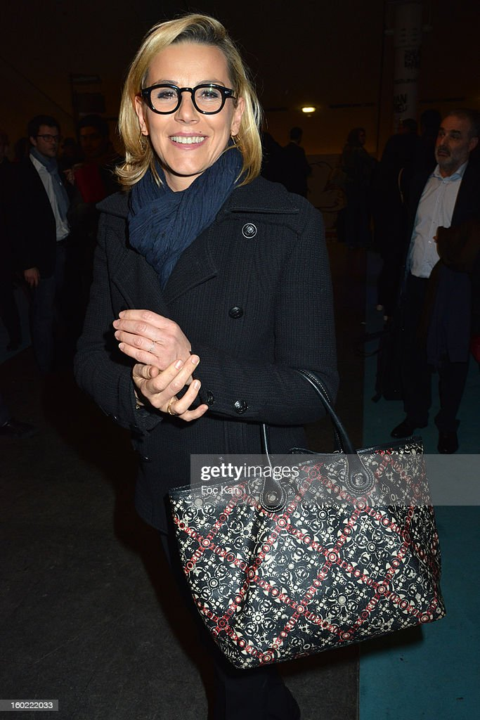 Laurence Ferarri attends 'Mariage Pour Tous' at Theatre du RondPoint on January 27 2013 in Paris France
