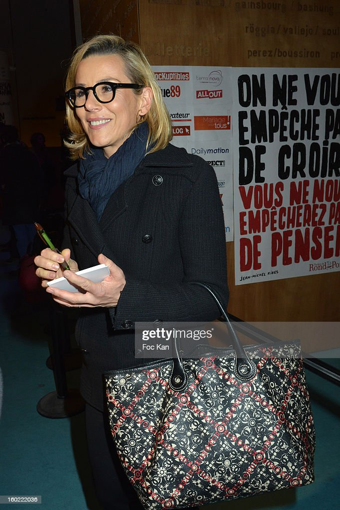 Laurence Ferarri attends 'Mariage Pour Tous' at Theatre du Rond-Point on January 27, 2013 in Paris, France. .