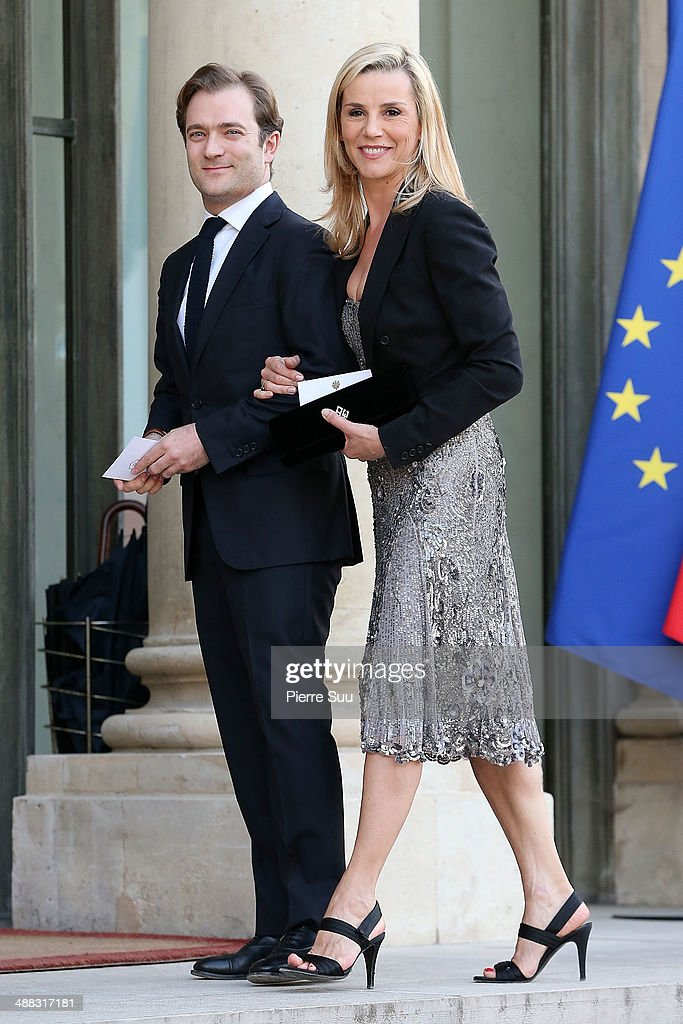 Laurence Ferrari and her husband Renaud Capuon attends the state Dinner At Elysee Palace In Honor Of Japanse Prime Minister Shinzo Abe on May 5 2014...