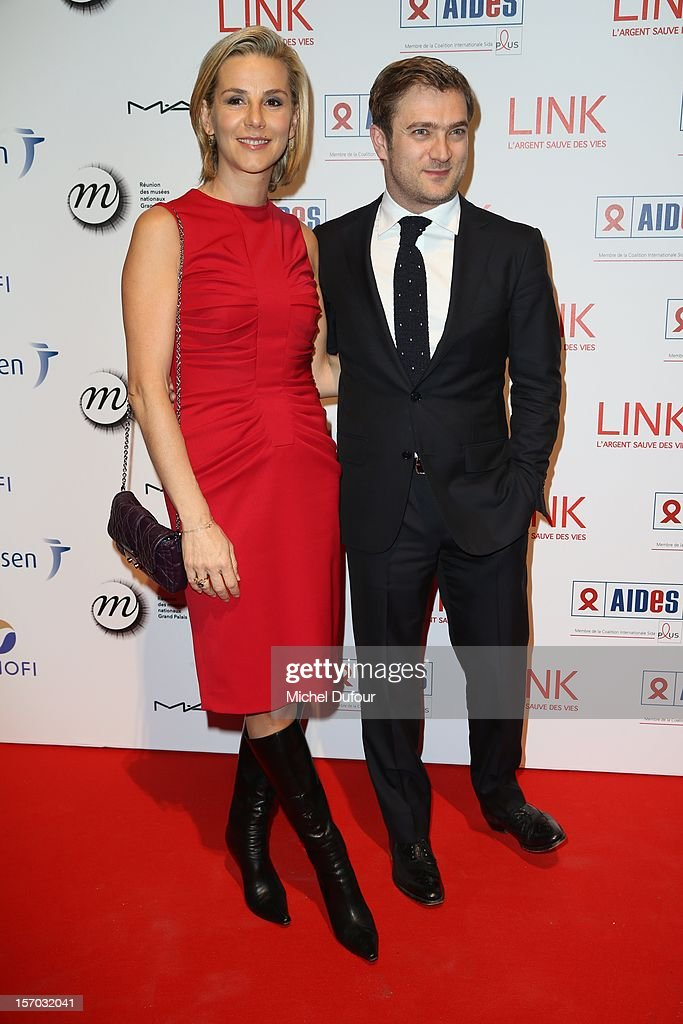 Laurence Ferrari and husband Renaud Capucon attend the AIDES International Gala Dinner at Grand Palais on November 27, 2012 in Paris, France.