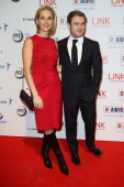Laurence Ferrari and husband Renaud Capucon attend the AIDES International Gala Dinner at Grand Palais on November 27 2012 in Paris France