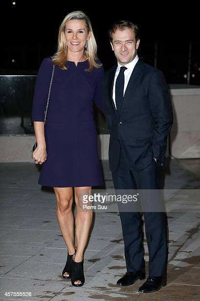 Laurence Ferrari and Renaud Capucon attend the Foundation Louis Vuitton Opening at Foundation Louis Vuitton on October 20 2014 in BoulogneBillancourt...