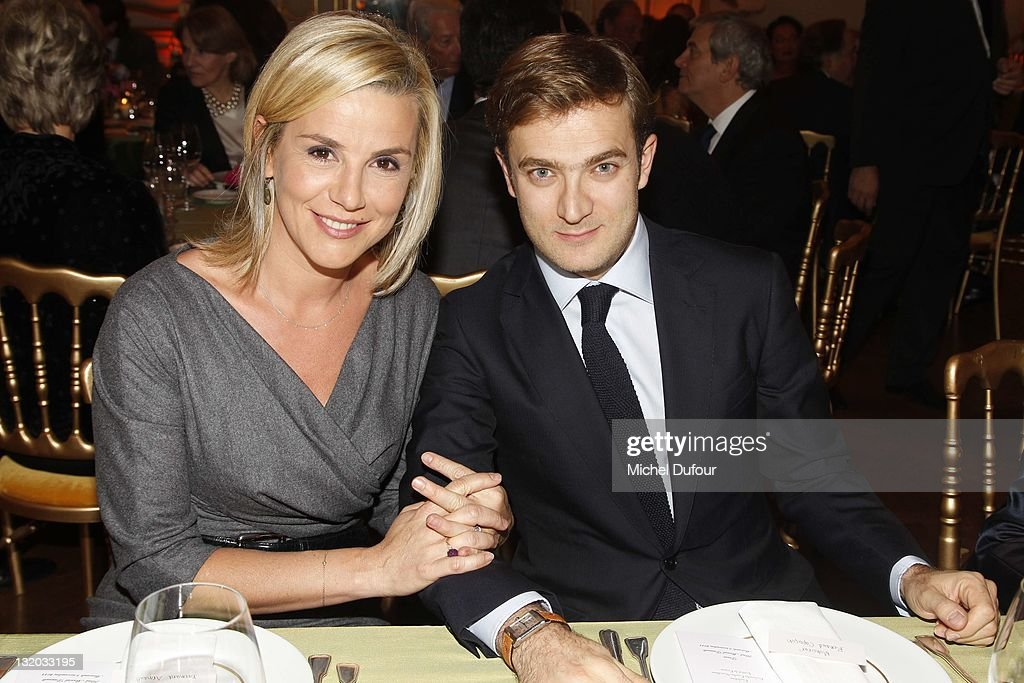 <a gi-track='captionPersonalityLinkClicked' href=/galleries/search?phrase=Laurence+Ferrari&family=editorial&specificpeople=777181 ng-click='$event.stopPropagation()'>Laurence Ferrari</a> and Renaud Capucon her husband attend Charity Gala For Cardiovascular Foundation Hosted by Me Hermann at Hotel Dassault on November 9, 2011 in Paris, France.