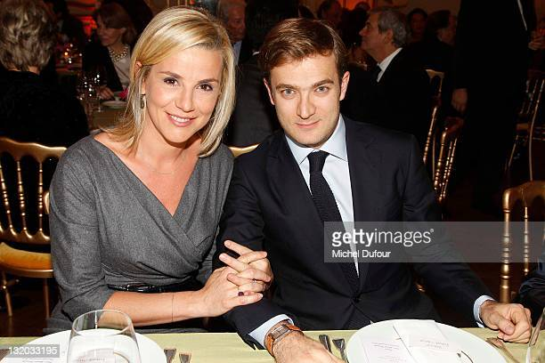 Laurence Ferrari and Renaud Capucon her husband attend Charity Gala For Cardiovascular Foundation Hosted by Me Hermann at Hotel Dassault on November...