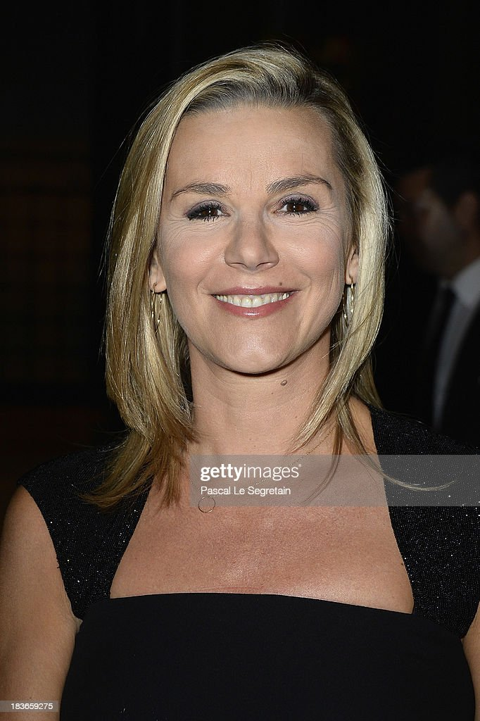 Laurence Ferrari arrives at a Ralph Lauren Collection Show and private dinner at Les BeauxArts de Paris on October 8 2013 in Paris France On this...