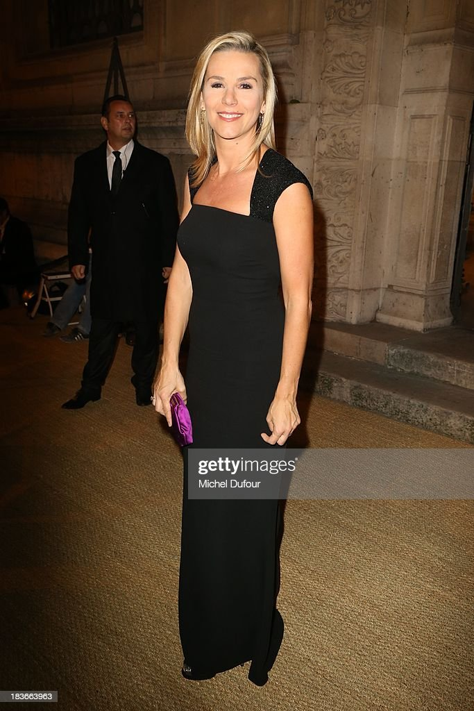 Laurence Ferrari arrives at a Ralph Lauren Collection Show and private dinner at Les BeauxArts de Paris on October 9 2013 in Paris France On this...