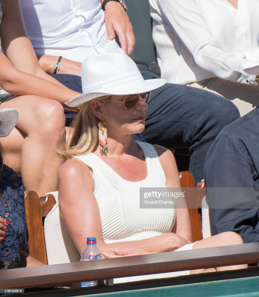 Laurence Ferrari attend the French open at Roland Garros on June 6 2015 in Paris France