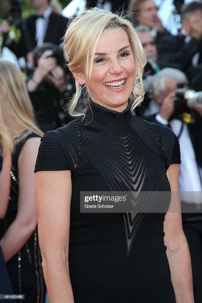 Laurence Ferrari attends the 'How To Train Your Dragon 2' premiere during the 67th Annual Cannes Film Festival on May 16 2014 in Cannes France