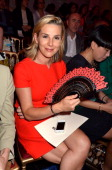 Laurence Ferrari attends the JeanPaul Gaultier Front Row Paris Fashion Week Haute Couture F/W 2013 at the Atelier Jean Paul Gaultier on July 4 2012...