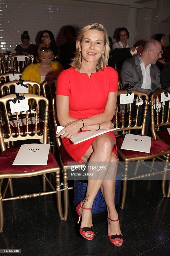 Laurence Ferrari attends the JeanPaul Gaultier HauteCouture Show as part of Paris Fashion Week Fall / Winter 2013 on July 4 2012 in Paris France