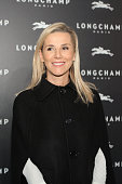 Laurence Ferrari attends the Longchamp Elysees 'Lights on Party' Boutique Launch on December 4 2014 in Paris France