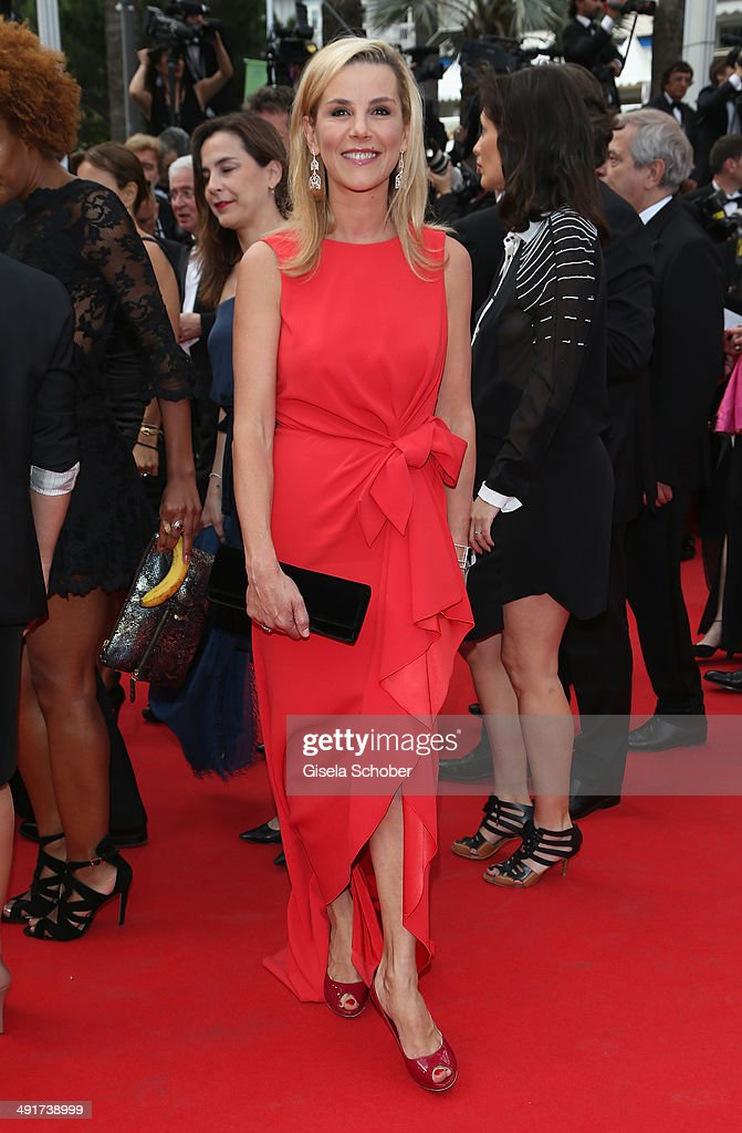 Laurence Ferrari attends the 'Saint Laurent' premiere during the 67th Annual Cannes Film Festival on May 17 2014 in Cannes France
