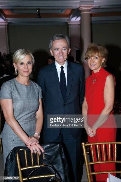 Laurence Ferrari Owner of LVMH Luxury Group Bernard Arnault and Isabelle Juppe attend the celebration of the 10th Anniversary of the 'Fondation...