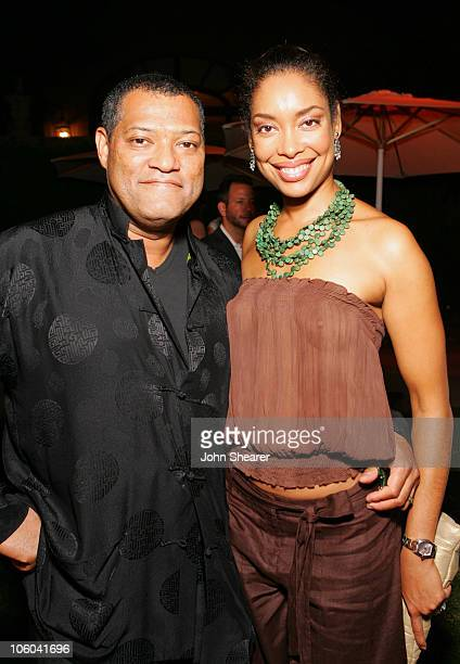Laurence Fishburne and Gina Torres during 2006 Fox TCA Party Inside at Ritz Carlton in Pasadena California United States
