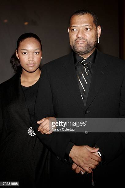 Laurence Fishburne and his daughter Montana arrive at the National Dream Gala to celebrate the Martin Luther King Jr Memorial groundbreaking November...