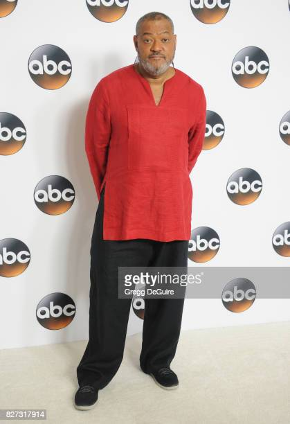 Laurence Fishburne arrives at the 2017 Summer TCA Tour Disney ABC Television Group at The Beverly Hilton Hotel on August 6 2017 in Beverly Hills...