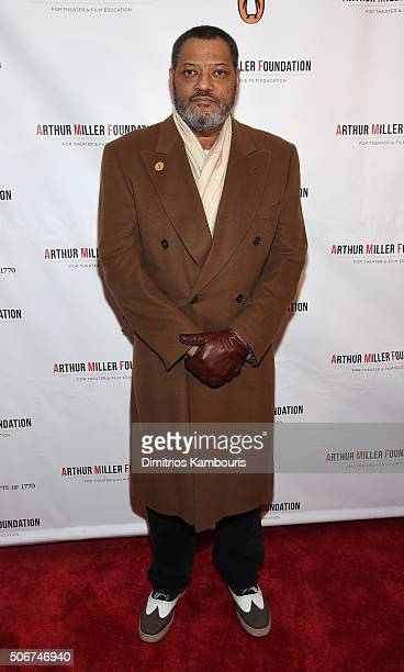 Laurence Fishburne attends Arthur Miller One Night 100 Years Benefit at Lyceum Theatre on January 25 2016 in New York City