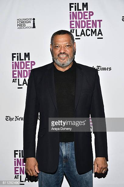 Laurence Fishburne attends the Film Independent at LACMA Live Read with guest director Laurence Fishburne at Bing Theatre At LACMA on February 18...