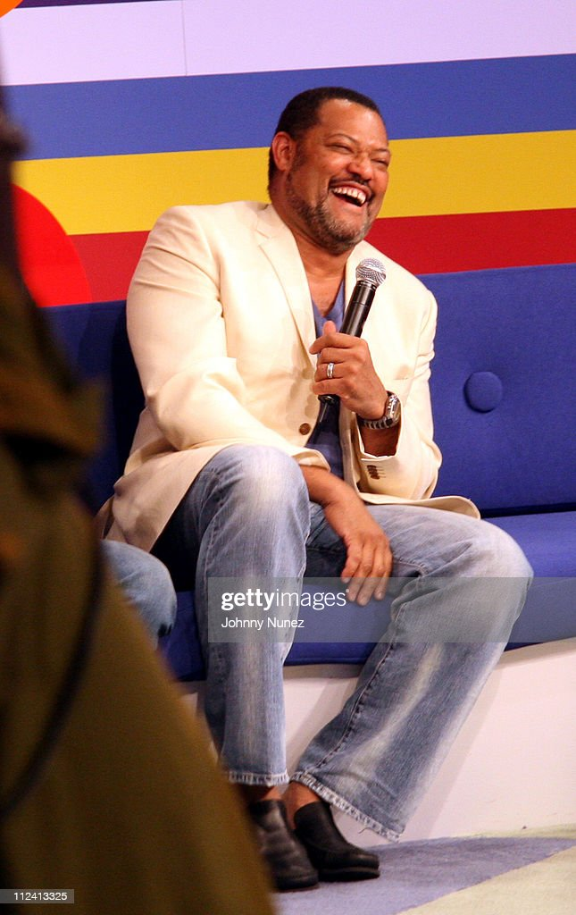 <a gi-track='captionPersonalityLinkClicked' href=/galleries/search?phrase=Laurence+Fishburne&family=editorial&specificpeople=206347 ng-click='$event.stopPropagation()'>Laurence Fishburne</a> during <a gi-track='captionPersonalityLinkClicked' href=/galleries/search?phrase=Laurence+Fishburne&family=editorial&specificpeople=206347 ng-click='$event.stopPropagation()'>Laurence Fishburne</a>, Angella Bassett and KeKe Palmer Visit 106 and Park - April 27, 2006 at BET Studio's NYC in New York, New York, United States.