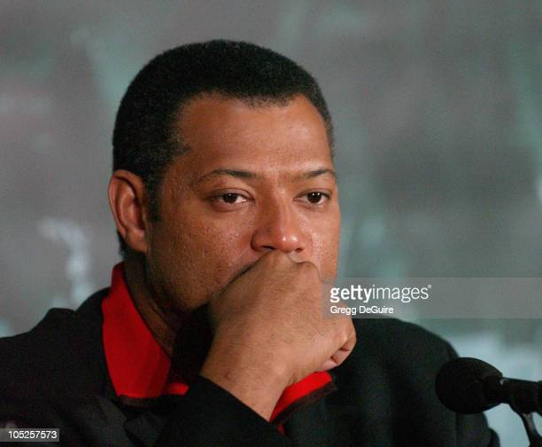 Laurence Fishburne during Los Angeles Press Conference with The Cast of 'The Matrix Revolutions' at Disney Concert Hall in Los Angeles California...