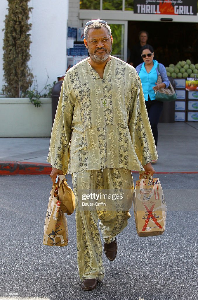 Laurence Fishburne is seen on May 16, 2014 in Los Angeles, California.