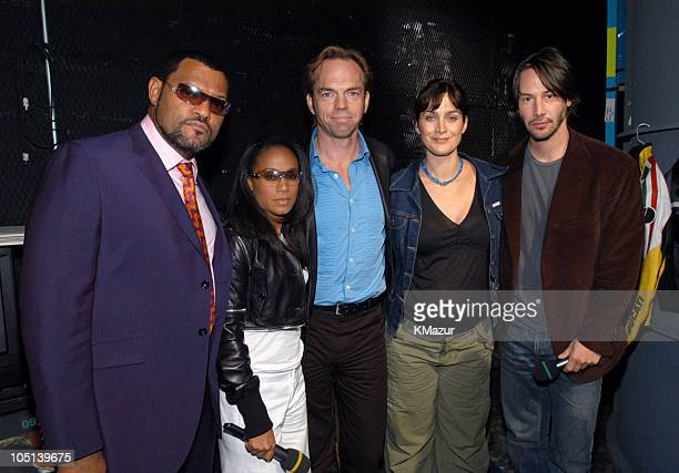 Laurence Fishburne Jada Pinkett Smith Hugo Weaving CarrieAnne Moss and Keanu Reeves
