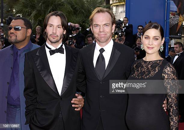 Laurence Fishburne Keanu Reeves Hugo Weaving and CarrieAnne Moss