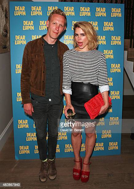 Laurence Fox and Billie Piper attend an after party following the press night performance of 'Dear Lupin' at the Ham Yard Hotel on August 3 2015 in...