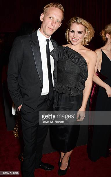 Laurence Fox and Billie Piper attend the 60th London Evening Standard Theatre Awards at the London Palladium on November 30 2014 in London England