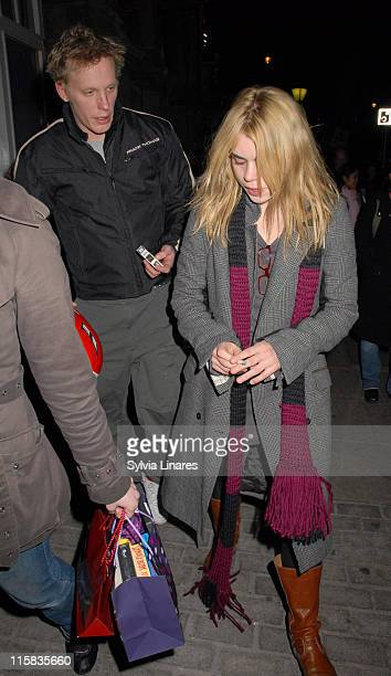 Laurence Fox and Billie Piper during Billie Piper and Laurence Fox Sighting at the Garrick Theatre April 4 2007 at The Garrick Theatre in London...