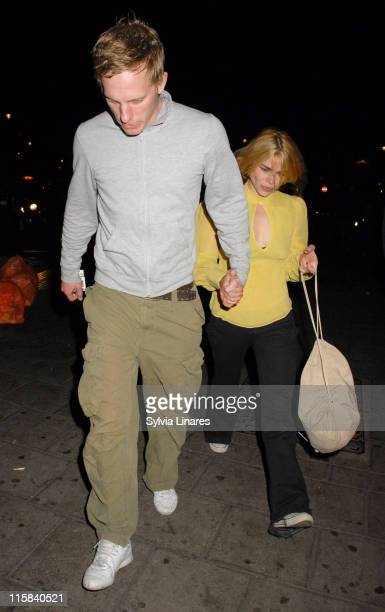 Laurence Fox and Billie Piper during Billie Piper and Laurence Fox Sighting at Garrick Theatre in London April 13 2007 at The Garrick Theatre in...