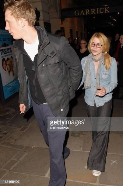 Laurence Fox and Billie Piper Leaving the Garrick Theatre in Central London
